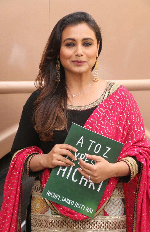 rani mukharji on set of zee Tv show Dance India Dance for film hichki Promotion