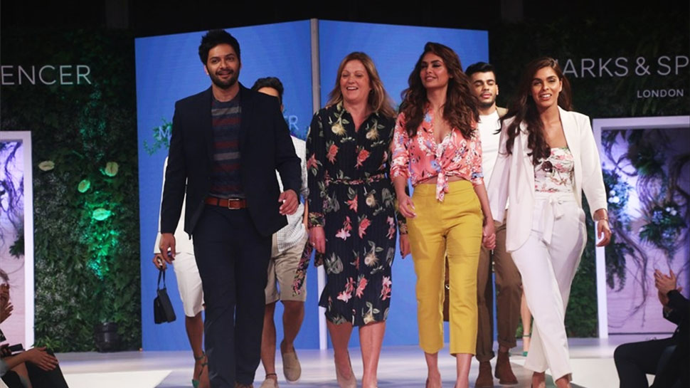 Esha Gupta and Ali Fazal walk the ramp for a Brand launch