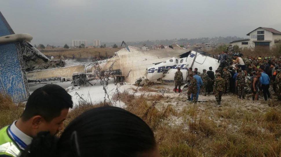 Photos of Bangladesh passenger Plane crash at Kathmandu airport