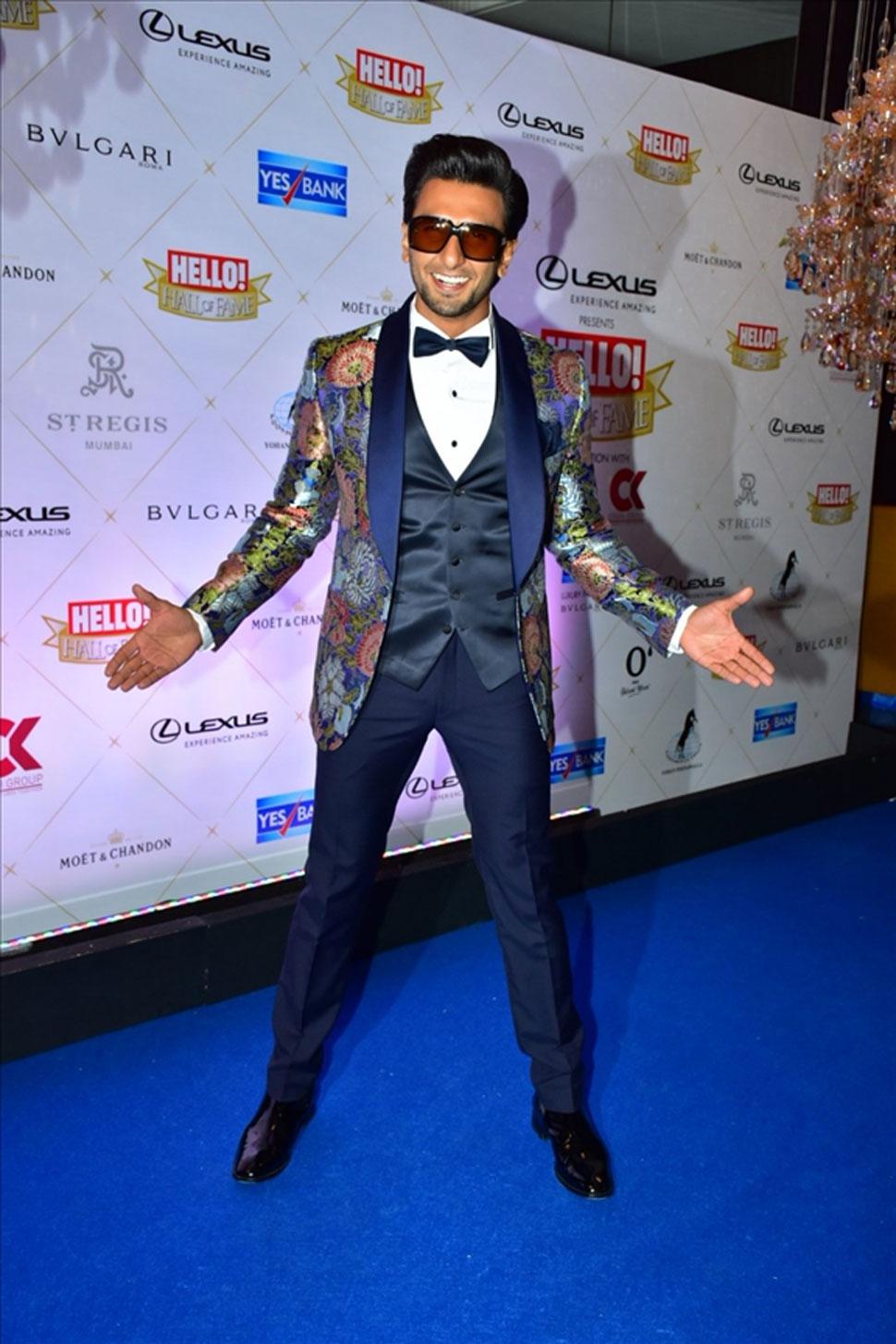Deepika Padukone, Ranveer Singh, Hello Hall of The Fame Awards