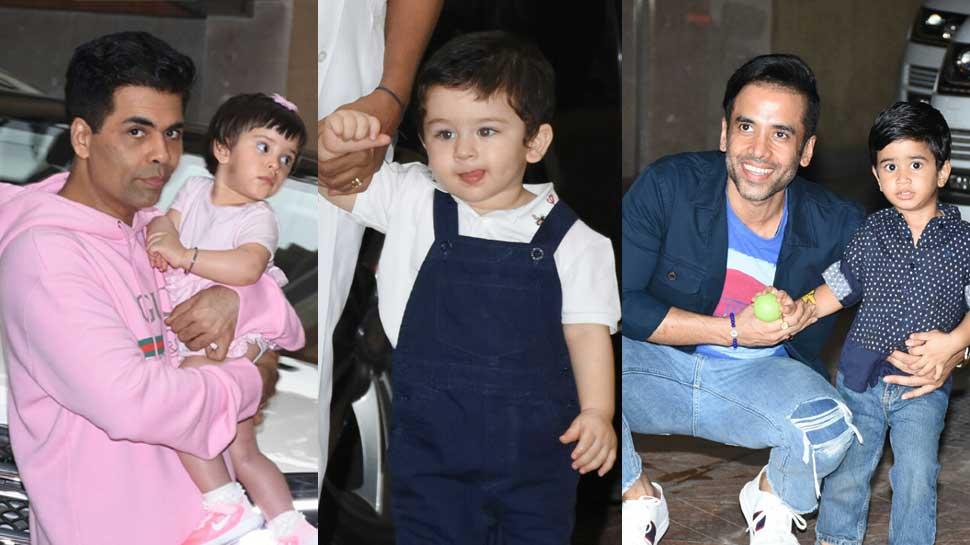 Taimur Ali Khan, Yash Johar and Roohi Johar attend Laksshya Kapoor's birthday bash