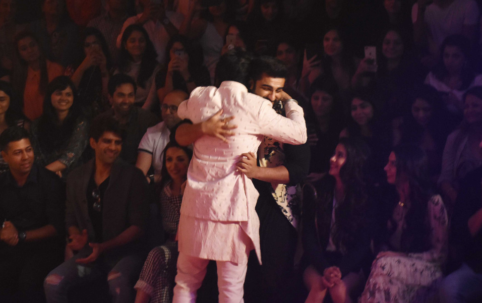 Arjun Kapoor during the show