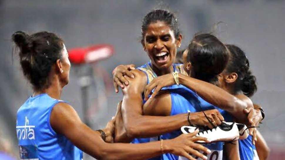 आशियाई स्पर्धा २०१८: भारताच्या महिला रिले टीमला सुवर्ण पदक