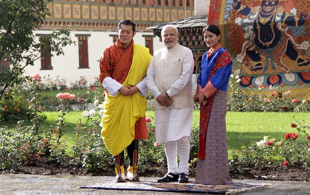 भूटान दौऱ्य़ावर पंतप्रधान नरेंद्र मोदी