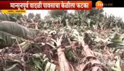 जळगावात पावसाने केळी बागयतीचे मोठे नुकसान