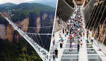 तुम्ही या काचेच्या पुलावर चालण्याची हिंम्मत करु शकता ?