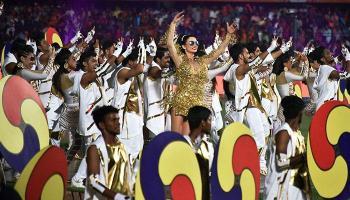 आयपीएल 2017 उद्घाटन सोहळा, राजीव गांधी स्टेडिएम, हैदराबाद