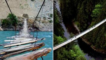 जगातील सर्वात भीतीदायक पूल