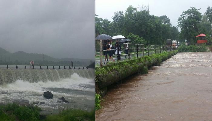 रायगड जिल्ह्यात मुसळधार पाऊस, नद्यांनी धोक्याची पातळी ओलांडली