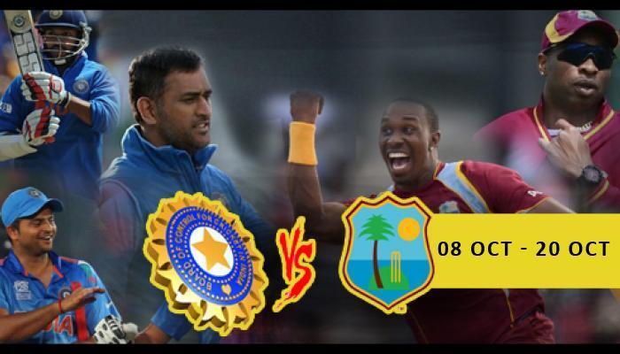 भारत वि. वेस्ट इंडिज सामन्यांचे वेळापत्रक