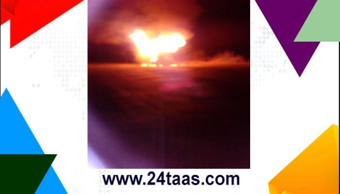 मुरबाड- म्हसा रोडवर सिलेंडरच्या ट्रकला आग, भीषण स्फोट