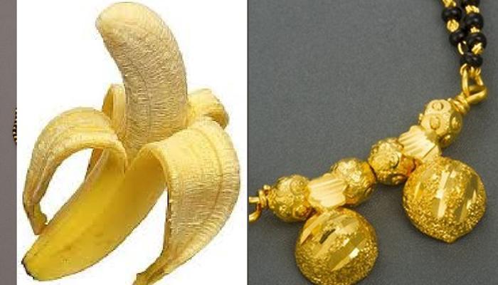 मार नाही केळी खा, पण गिळलेलं मंगळसूत्र दे