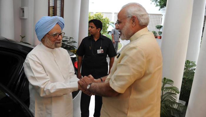 पंतप्रधानांनी 7RCR ला केलं मनमोहन सिंहाचं स्वागत