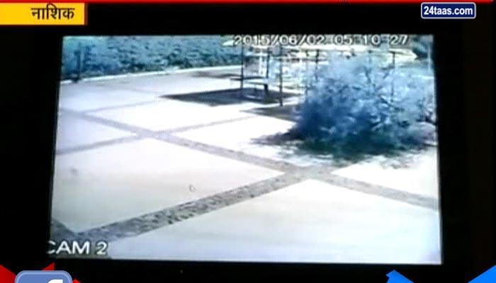 सीसीटीव्ही: चोरट्यांनी केली चंदनाची चोरी, कालिका मंदिरातील प्रकार