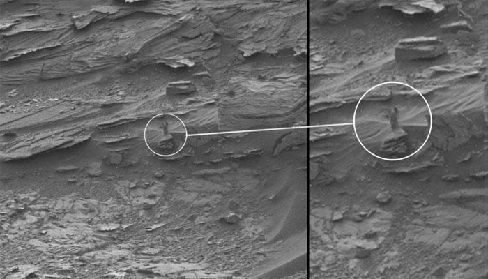 मंगळावर दिसली महिलेची आकृती?