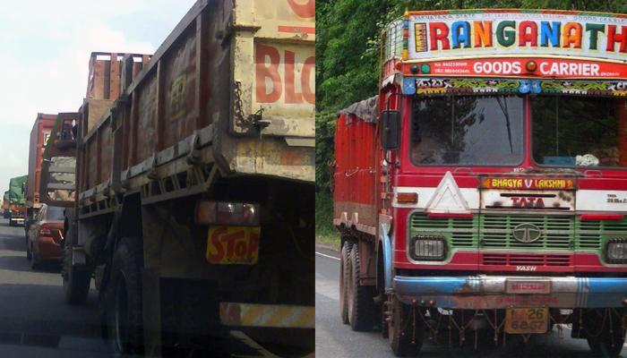 मुंबई - गोवा महामार्गावर अवजड वाहतूक बंद
