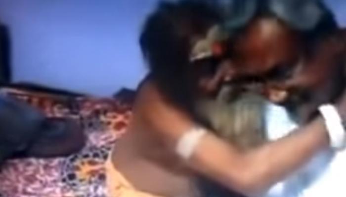 VIDEO : 'लालू मुर्दाबाद'... 'झप्पी बाबांची' नितीशकुमारांना पप्पी!
