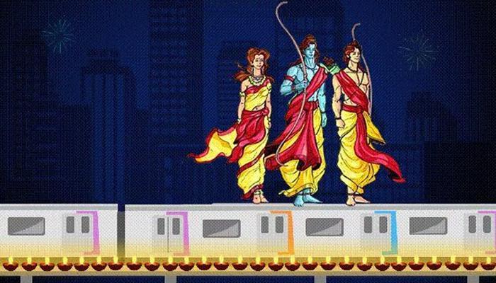...जेव्हा मुंबई मेट्रोच्या टपावरून प्रवास करताना दिसले राम, लक्ष्मण, सीता!