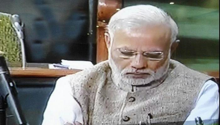 VIDEO : पंतप्रधान मोदी संसदेत झोपले होते? हा घ्या पुरावा...