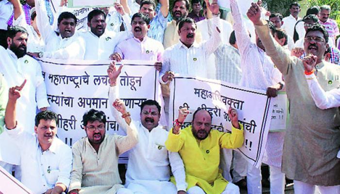 नागपुरात 'जय महाराष्ट्र' विरुद्ध 'जय विदर्भ'च्या घोषणा