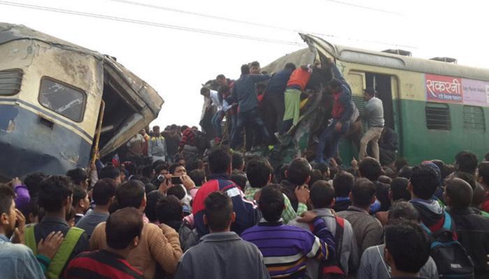 हरियाणामध्ये रेल्वे अपघातात एक ठार, १०० जखमी
