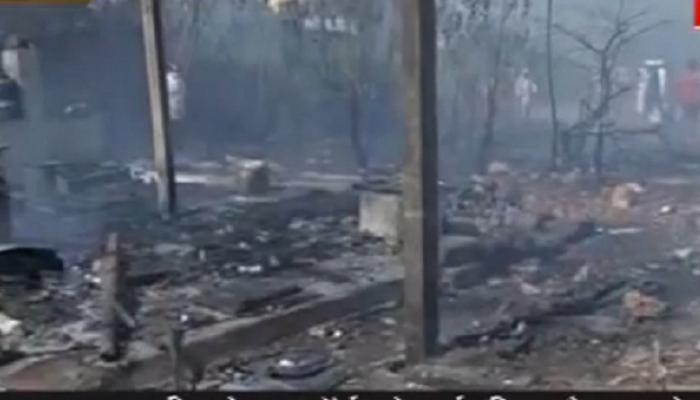 रत्नागिरीतल्या मिरकरवाडा झोपडपट्टीला भीषण आग