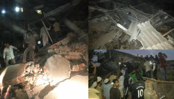 भिवंडीत दोन मजली इमारत कोसळली; १० जणांना सुखरुप बाहेर काढण्यात यश