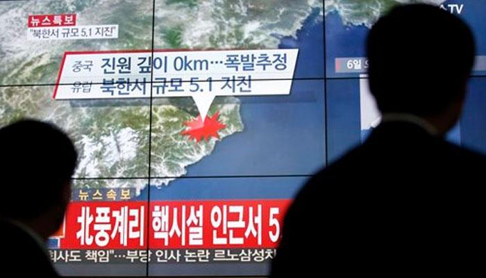 उत्तर कोरियाकडून हायड्रोजन अणुबॉम्बची यशस्वी चाचणी