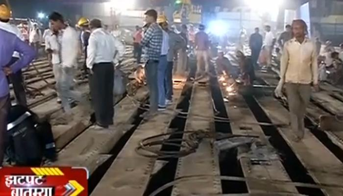 मध्य रेल्वेच्या हँकॉक ब्रिज तोडकामाला सुरुवात, मध्य रेल्वेवर जम्बो ब्लॉक