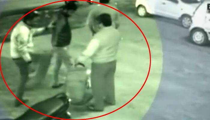 CCTV फुटेज : बीडी मागितली म्हणून तरुणाला बेदम मारहाण!
