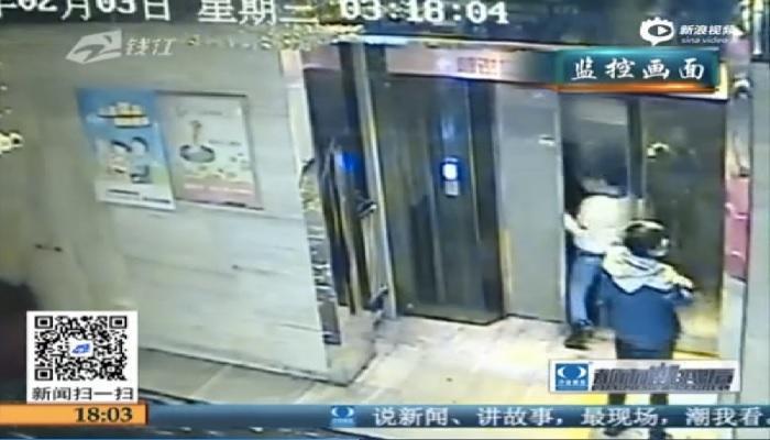 Viral Video: दारुड्याने लिफ्टचा दरवाजा तोडून पडला खड्ड्यात