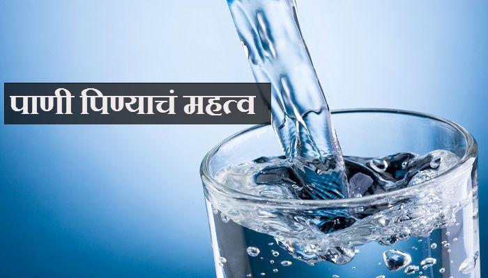 पाणी पिणं महत्वाचं आहे... कारण