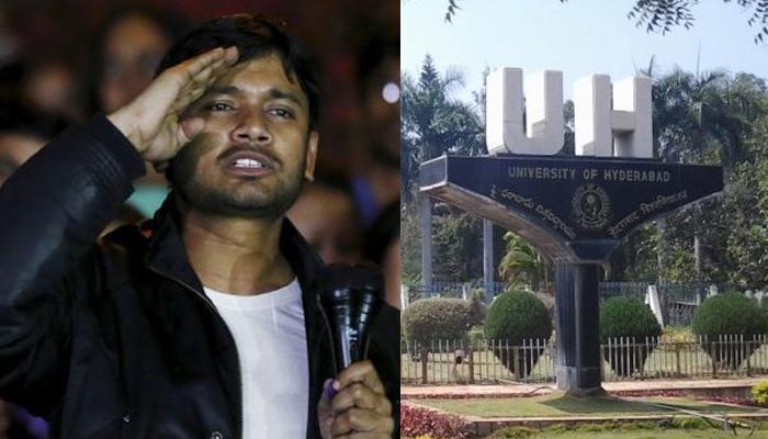 कन्हैया हैदराबाद युनिव्हर्सिटीत... वातावरणात तणाव