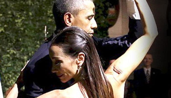 ब्रसेल्स अतिरेकी हल्ल्यानंतर बराक ओबामा डान्समध्ये मशगुल