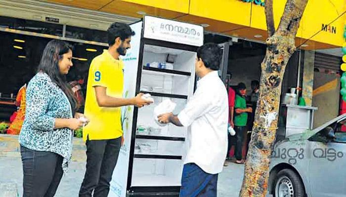कोची शहरात गरीबांना अन्न देतो हा 'आनंदाचा रेफ्रिजरेटर'