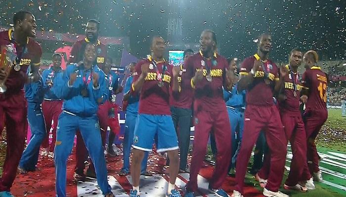 टी-20 वर्ल्डकप : वेस्ट इंडिज टीमचा विजयाचा क्षण