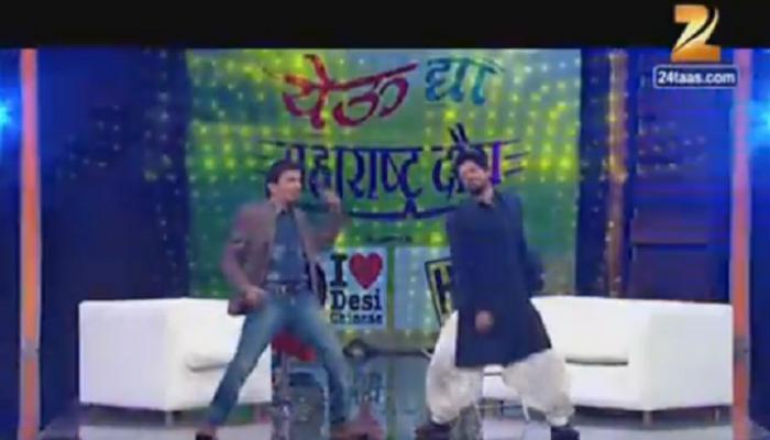 शाहरूख  आणि भाऊ कदम यांचा शांताबाई गाण्यावर डान्स