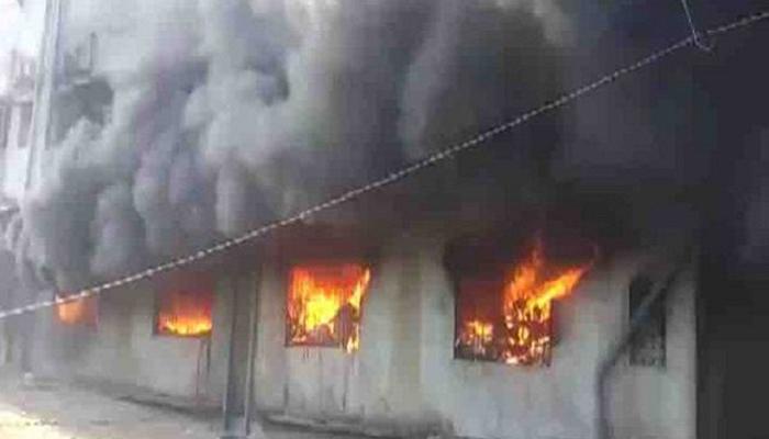 भिवंडीत इमारतीला भीषण आग