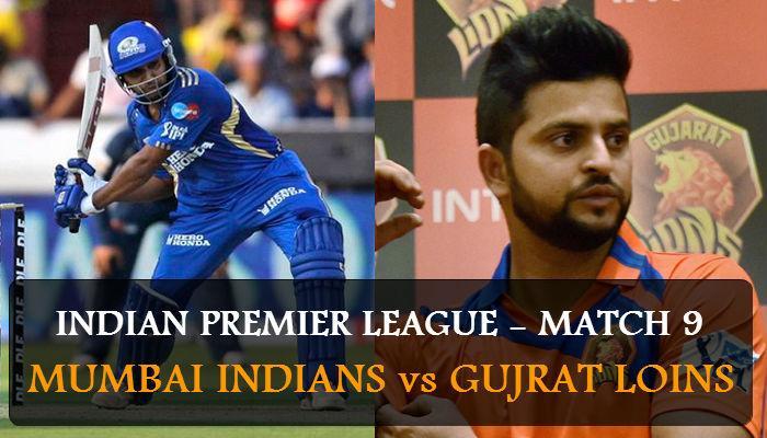 मुंबई इंडियन्स विरुद्ध गुजरात लायन्स