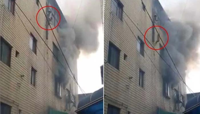 VIDEO : आईनचं आपल्या मुलांना चौथ्या मजल्यावरून खाली फेकलं