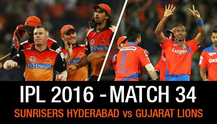 Live स्कोअरकार्ड : गुजरात विरुद्ध हैदराबाद