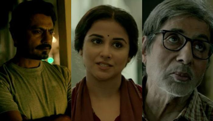फिल्म रिव्ह्यू : 'तीन' अमिताभ, विद्या, नवाजुद्दीनचा शानदार परफॉर्मन्स