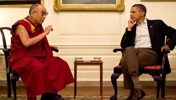 बराक ओबामांनी घेतली दलाई लामांची भेट