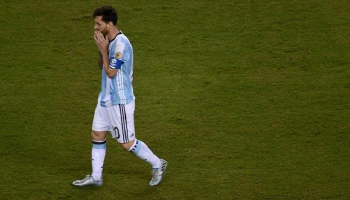 लिओनेल मेस्सीचा आंतरराष्ट्रीय फुटबॉलला अलविदा