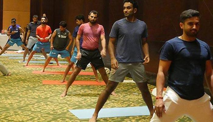 वेस्ट इंडिज दौऱ्याआधी टीम इंडियाचा योगाभ्यास