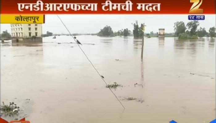 नदीकाठच्या गावांत पंचगंगेचं पाणी शिरलं, NDRF ची टीम दाखल