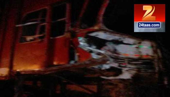 लातूर येथील जीप - कंटेनर अपघात ९ ठार