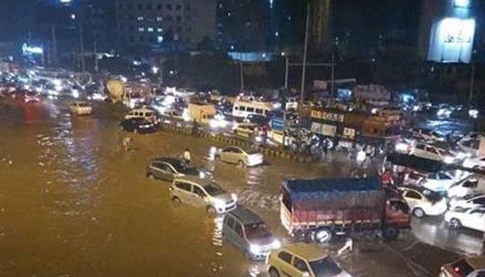 हरियाणात पूरस्थिती, अनेक रस्ते पाण्याखाली