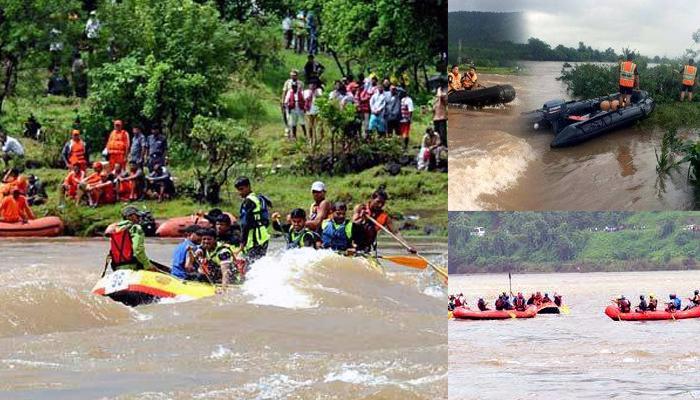 महाड पूल दुर्घटनेत ४२ जण बेपत्ता, १२ मृतदेह सापडलेत