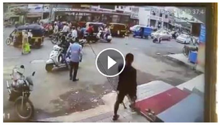 नाशिकमध्ये भररस्त्यात बसचे ब्रेक फेल झाले आणि पाहा व्हिडिओ...